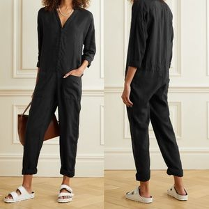 NWT James Perse Linen Jumpsuit in Carbon XS